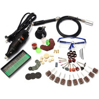 Doersupp 142Pcs 130W Electric Power Rotary Multipurpose Mini Drill Accessories For Dremel High Quality