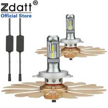 Zdatt H7 Led Bulb Canbus Headlight H1 H4 H8 H11 9005 HB3 9006 HB4 ZES Fanless Car Light 100W 12000LM 6000K 12V For Auto Fog Lamp 2x h7 h4 led bulb 12000lm car headlight led car lamp fanless h8 h9 9005 hb3 9006 hb4 50w 6500k 24v zes led h11 12v car lamp