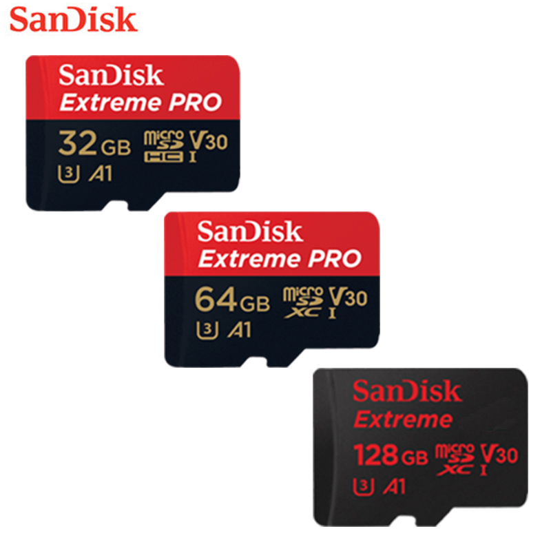 SanDisk Extreme Pro microSDHC/microSDXC UHS-I Memory Card microSD Card TF Card 95MB/s 16GB 32GB 64GB Class10 U3 With SD Adapter genuine sandisk extreme pro 633x sdhc uhs i memory card 16gb