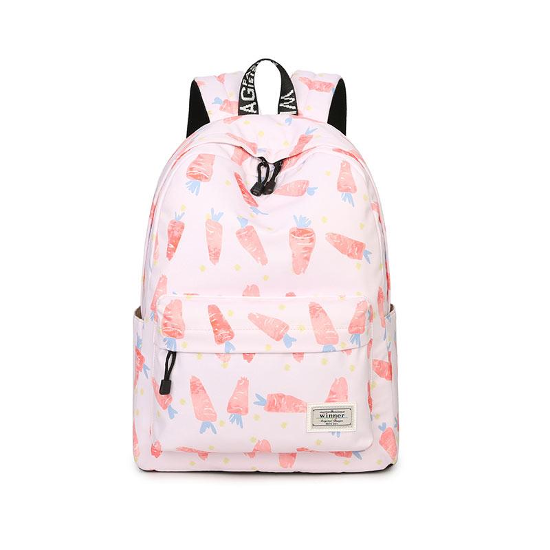 Sweet Fashion Women Back Pack Carrot Picture School Children School Bag Leisure Korean Ladies Knapsack Girl