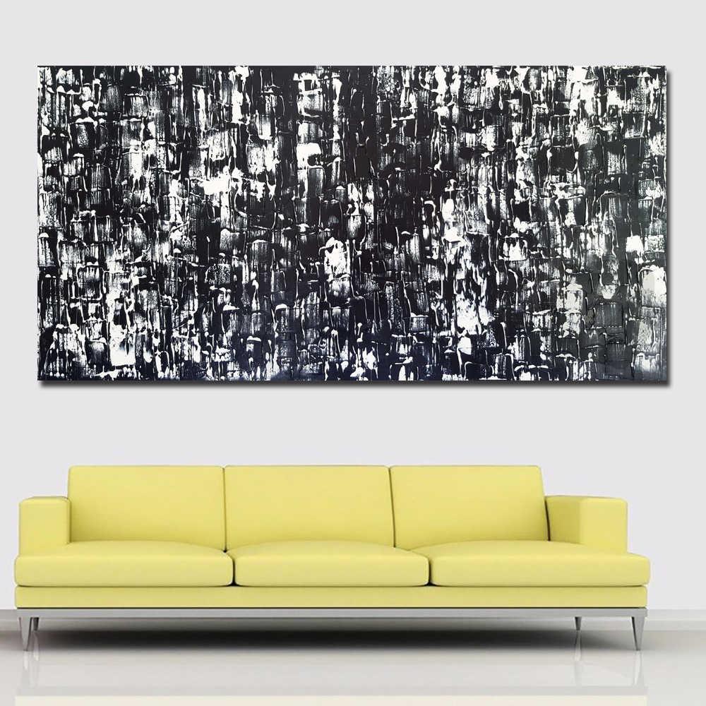 Lukisan Modern Abstrak Lukisan kanvas Seni Abstrak Hitam Dan Putih Dicetak Pada Kanvas Cetak Poster Dekorasi Rumah Tanpa Bingkai