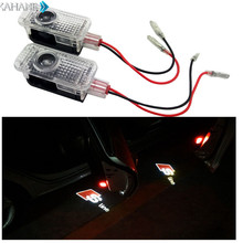 2PCS LED Laser Ghost Shadow Lights Projector Welcome Warning Courtesy Car Door Lamp for Audi A8 A1 A3 A4 C5 80 A7 Q3 Q5 Q7 TT A5