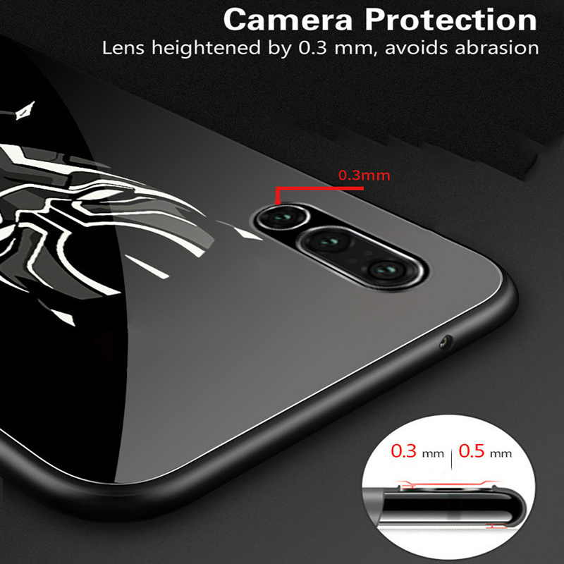 Image 4 - Coque Marvel Venom Luminous Glass Phone Case For Huawei P30 P20 Pro Lite P10 Plus Honor 10 9 9X 8X i Iron Man Batman Cover Funda-in Fitted Cases from Cellphones & Telecommunications