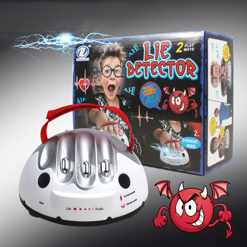 Polygraph Creative Adjustable Miniature Electric Shock Lie Detector Truth or Dare Party Table Game Tricky Novelty Gags Toys Gift