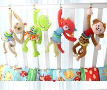 Animal Hand Bell Baby Plush Pram Car Stroller hanging Rings pull shock Rattles Toys For Baby Development Gifts 20% off