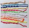 Comercio al por mayor 24 unids/bolsa hecha a mano multi de los colores al azar estilo de la mariposa italia joyas pulsera de macramé encaje para las mujeres 19 estilos!!!