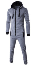 Women Men Motion piece men zipper cardigan Hoodie Black Blue  gray Pyjamas Piece Sleepwear Adult Onesie Costume Winter Cosplay
