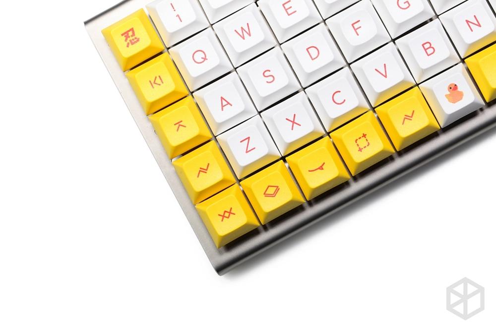 kprepublic little yellow duck dye subbed dsa profile Cherry profile Dye Sub Keycap PBT for xd75 am re planck preonic