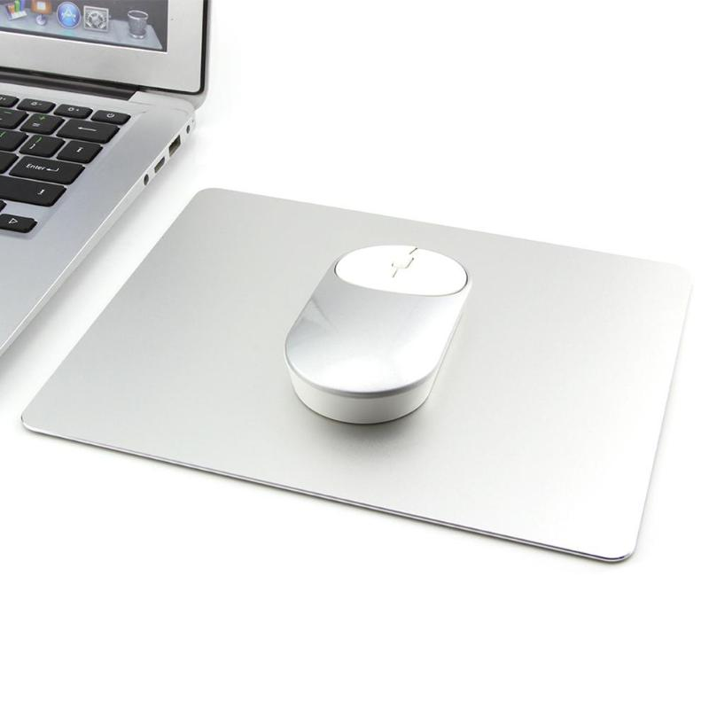 219*174mm Metal Aluminum Large Mouse Pad Gaming Mousepads Office Mats Silver Laptop Mousemats for Apple MackBook Pro