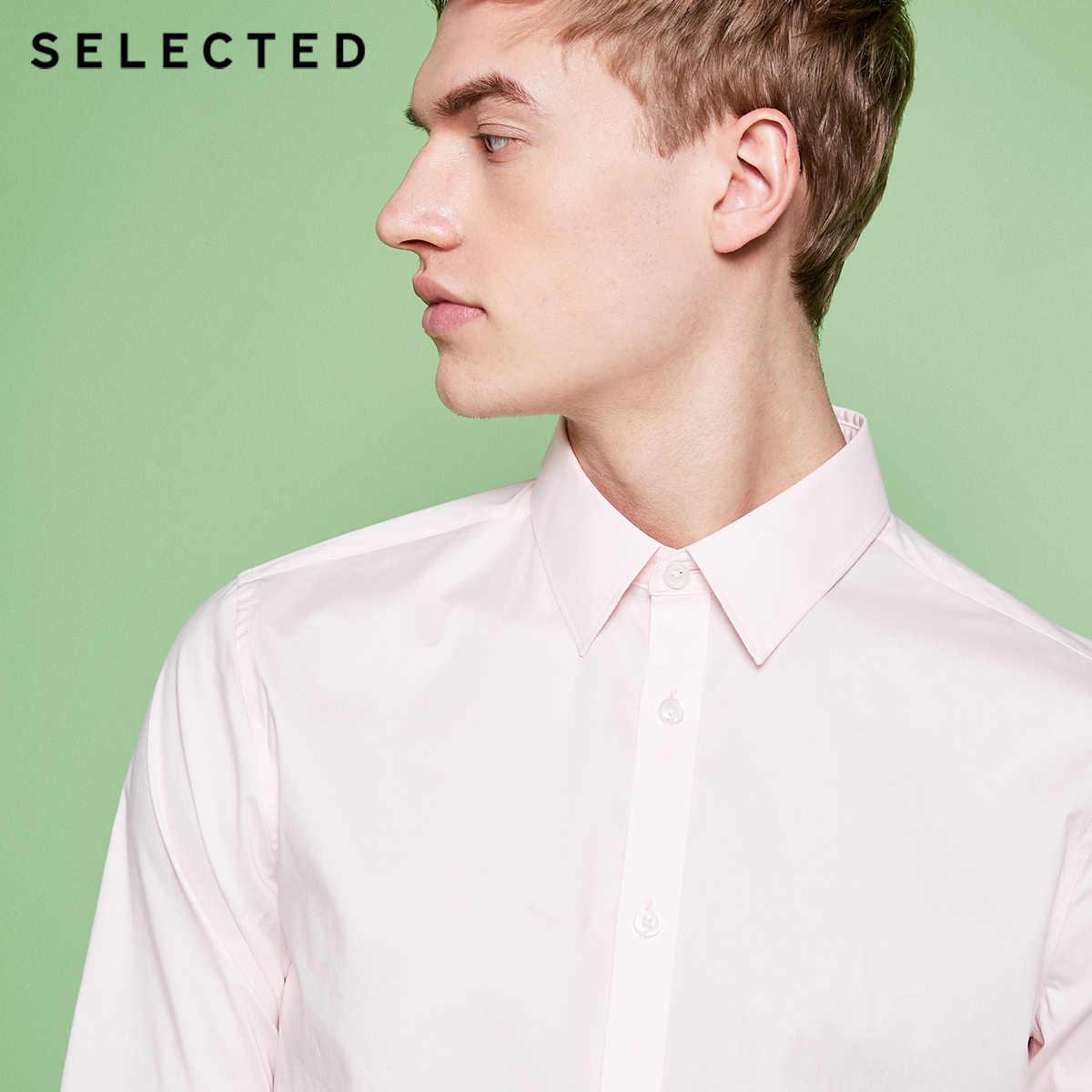 Мужская хлопковая футболка с длинными рукавами, с микро-эластичным воротником, 418205516