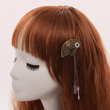 Заколка для волос в стиле стимпанк веер 1