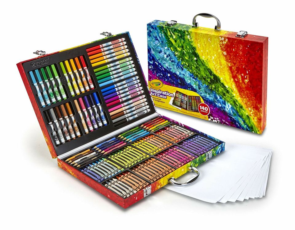 Crayola 140 Count Art Set Rainbow Inspiration Art Case Gifts For Kids And Adults Including Crayons Washable Markers Pencils Aliexpress