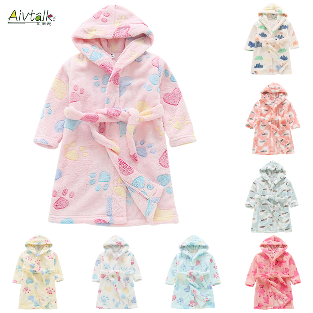 2018 Fashion Autumn Winter Children Flannel Bathrobes