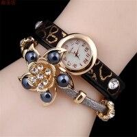 Relógios Das Mulheres Moda Relógio de 2017 Senhoras Pulseira de Relógio de Flores Leopardo Retro Envolto Relógio de Quartzo Do Vintage Relógio Saat Bayan 139
