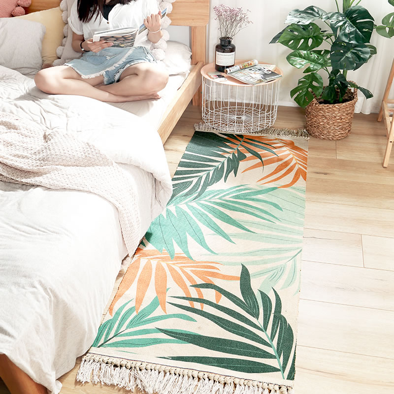 Cotton Carpet Living Room Dining Room Home Multi Size Nordic Style Decorative Mat Bedroom Cotton Coconut Forest FloorCotton Carpet Living Room Dining Room Home Multi Size Nordic Style Decorative Mat Bedroom Cotton Coconut Forest Floor