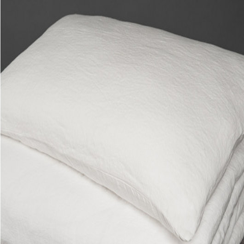 2pcs White Standard Vintage Linen Pillowcase Flax Linen Pillowcases Home Bed Pillow case Plain Bed Linen Shams