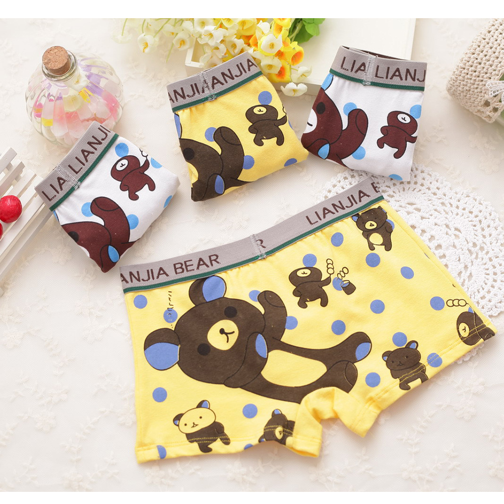 все цены на weLaken 4 Pcs/lot Cartoon Children Underpants Comfortable Breathable Underwear Kids Boxer Baby Panties For 2-10Yrs Boys Briefs