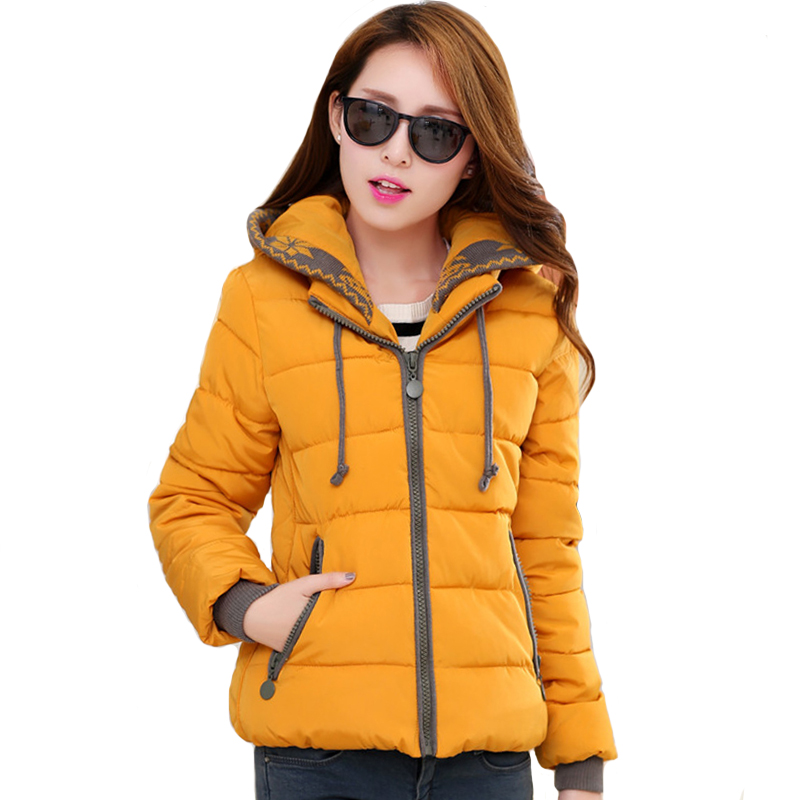 2019 Casual Winter Jacket Women Short Cotton Padded Hooded Ladies Coat Female   Parka   Chaqueta Mujer Invierno