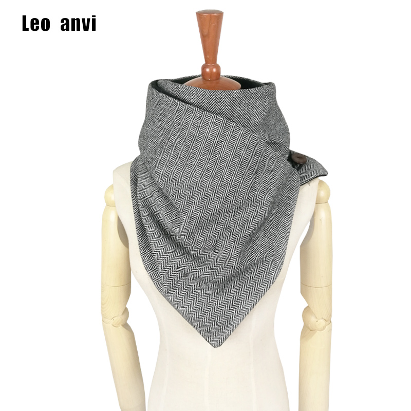 Leo anvi designer fashion winter   scarf   men wool cotton unisex Herringbone chevron ring   scarf   women   wrap   handmade Infinity   scarf