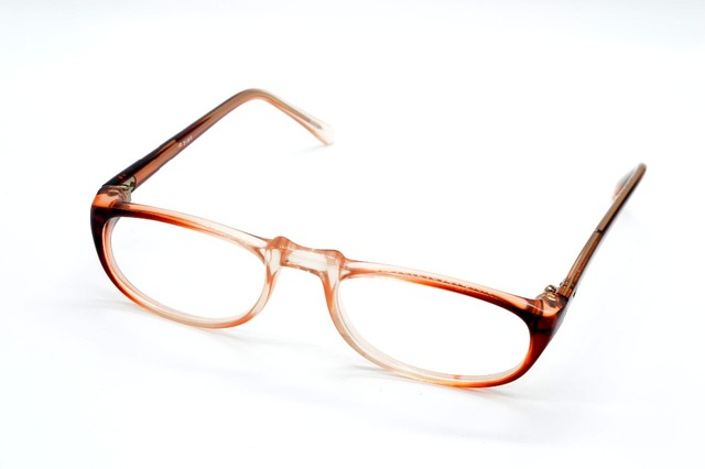 0f35c86bc3 TOP PLATE SMALL Brown Gradient READING GLASSES FRAME CUSTOM MADE OPTICAL  MYOPIA AND READING GLASSES LENS