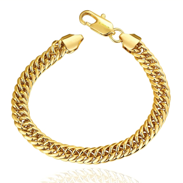 f451d5ff172 Gold Filled men s fashion bracelets Bangles Private Brand Gold Best Friend  Bracelet Girls boys women men Chirmas Gift LF-10200