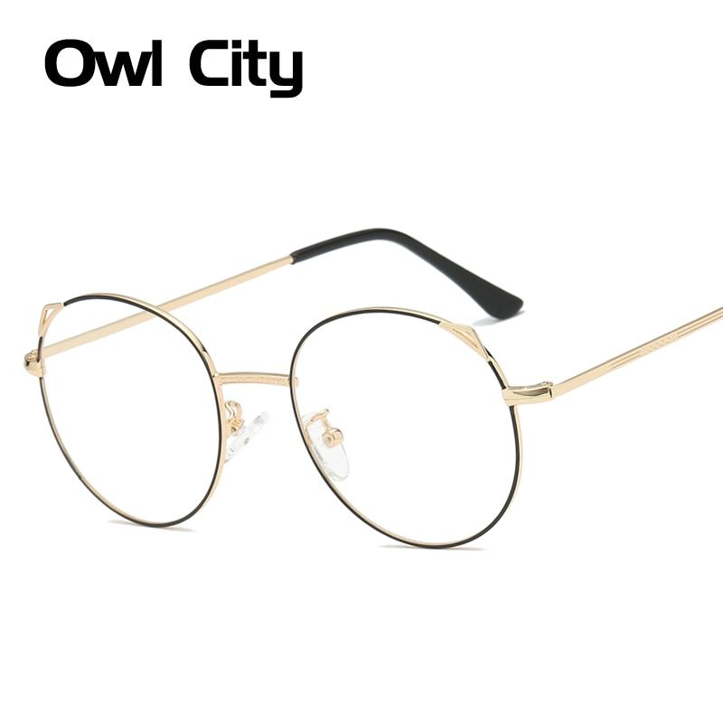 1f7f47cdbef Cat Eye Glasses Women Round Eyeglasses Frames Metal Luxury Brand Eye Glasses  Frame Clear Lenses Cateye Prescription Eyewear