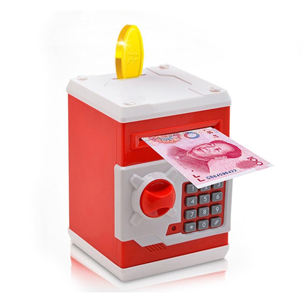 Mini Piggy Bank Simulation ATM Bank Money Saving Box Password Box Safe Piggy Bank Smart Coin Education Save Kids Gift Toy