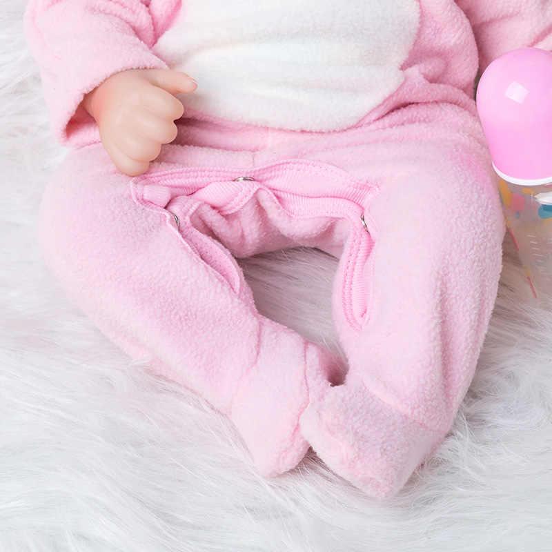 Conjunto de juguetes de muñecas para niñas de 55cm para bebés recién nacidos renacidos de silicona muñecas Reborn con ropa juguetes realistas para niños regalos de cumpleaños