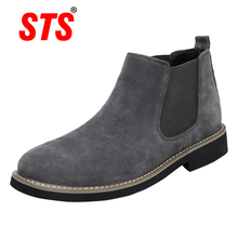 2019 Winter Genuine Leather Chelsea Boots Women Autumn Winter Ankle Boots Bota Masculina Scarpe Uomo Invernali Bottine Homme