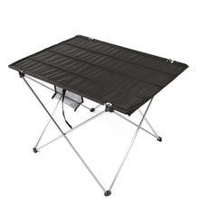 المحمولة طوي طاولة قابلة للطي 4 إلى 6 أشخاص مكتب التخييم شواء المشي لمسافات طويلة في الهواء الطلق نزهة 7075 سبائك الألومنيوم خفيفة للغاية الجدول