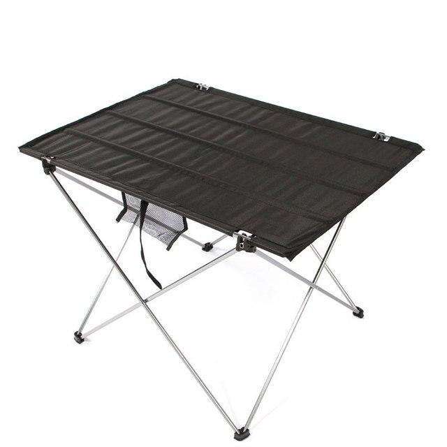 Draagbare Opvouwbare Klaptafel 4 naar 6 Mensen Bureau Camping BBQ Wandelen Outdoor Picknick 7075 Aluminium Ultra licht tafel