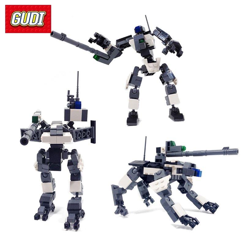 Armor Guard Model Building Kits Toy Robot Deformable Model Assembly DIY Building Blocks Bricks Gift for Children