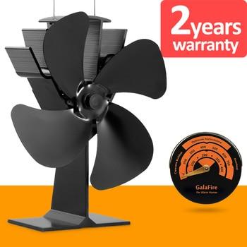 [2 años de garantía] Modelo de Venta caliente promoción golpes de calor a 300 f/m 4 cuchillas de calor alimentado de madera ventilador estufa de cocina ventilador superior