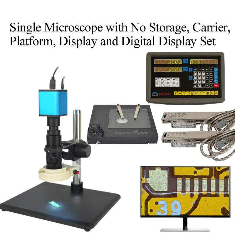 Автоматический Фокусировочный микроскоп Высокое Разрешение HDMI высокоскоростное электронное видео измерение для 14 миллионов промышленных электронных - Цвет: Белый