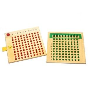 Image 4 - Frühen Holz Montessori Materialien Mathematik Lehre Spielzeug Multiplikation & Division Mathematik Spielzeug Perlen Bord Rot Grün Lernen