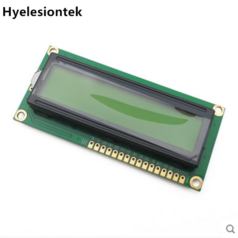 1602 LCD HD44780 Screen Character LCD Display Blue(Yellow) 16X2 LCD Module DC 5V For Arduino LCD Free Shipping module 1604 164 16 4 character lcd module lcm display blue backlight white character 5v logic circuit