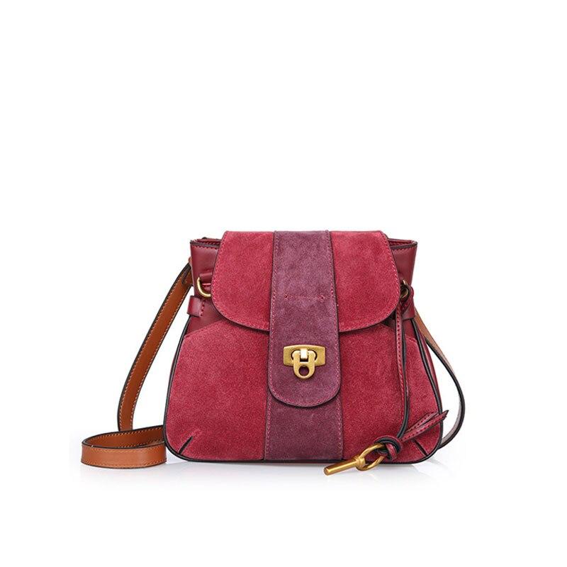 Leather troika damskie new saddle bags bolsas feminine women matte stitching lock small bag shoulder Messenger bag troika katalog pdf
