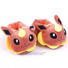 Anime Cartoon Pikachu Charmander Bulbasaur Squirtle Sylveon Eevee Flareon Snorlax Plush Slippers for Children Kids Plush Toys