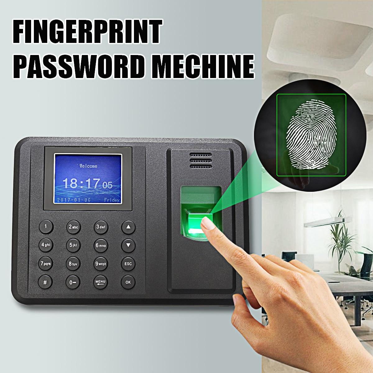 USB Password Biometric Fingerprint Time Office Attendance Clock Recorder Employee Electronic Access Control Machine