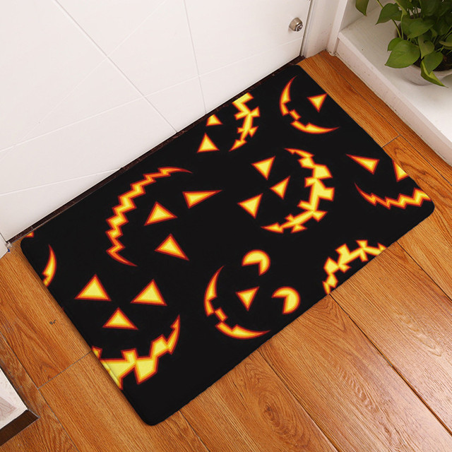 FS5 Halloween Home Non Slip Door Floor Mats Hall Rugs Kitchen Bathroom  Carpet Decor Sep21