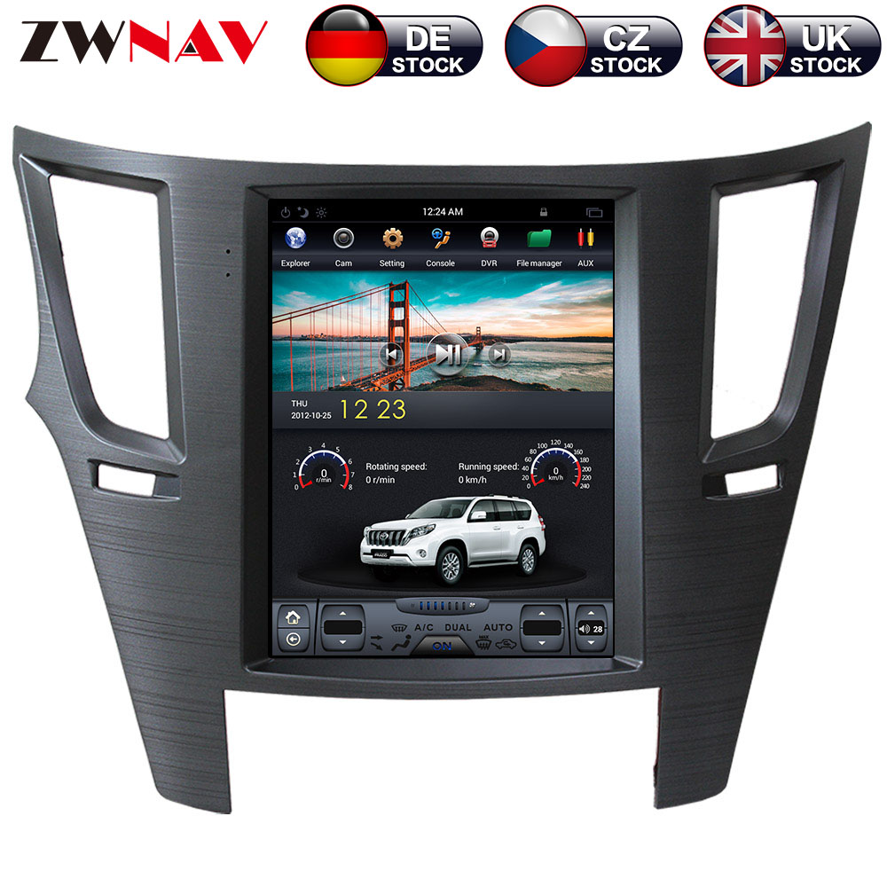 ZWNVA Tesla estilo ISP pantalla Android 7,1 reproductor de DVD de navegación GPS pantalla Radio para Subaru Outback Legacy Outback 2009, 2010 2012, 2014