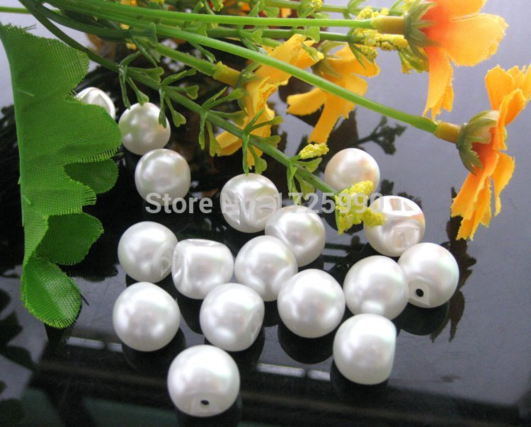150pcs side holes pearl button 12mm wedding decoration buttons garment crafts botoes scrapbook accessory embellishment hair bow