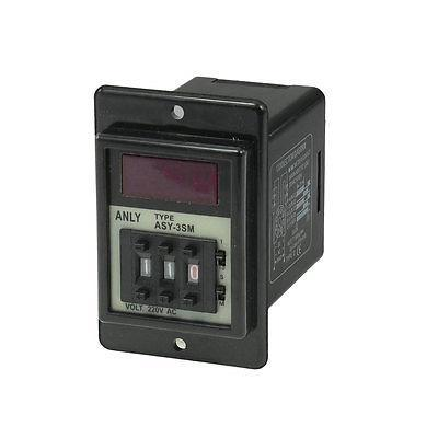 ASY-3SM 99.9S-999M Second Digital Timer Programmable Time Relay AC 220V 0 01 999 second 8 terminals digital timer programmable time relay