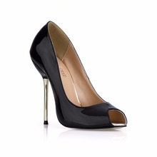 New Women Pumps High Heels Sexy CD Party & Evening Big Sizes Pearl PU Shallow Peep Toe Thin Iron Heel Lady Heeled Shoes 3845-a7