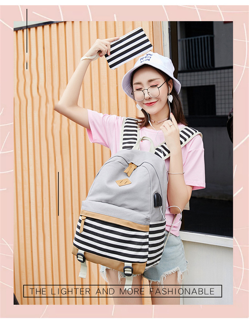 HTB1nqjpXcvrK1Rjy0Feq6ATmVXaZ Hot Sale Canvas Backpack Women School Bags for Girls Large Capacity USB Charge Laptop Backpack Travel Rucksack for Teenagers