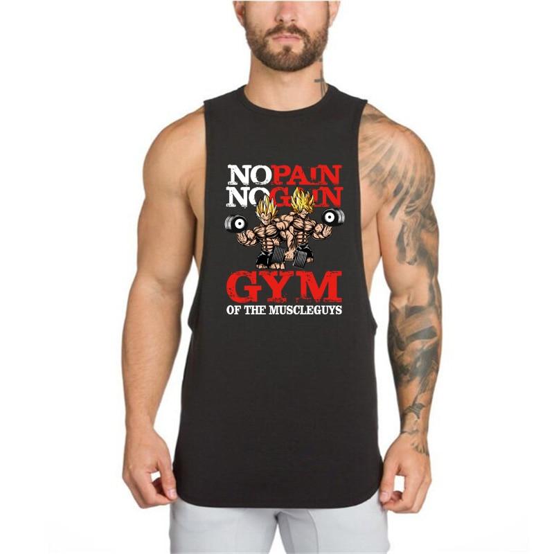 Dragon Ball   tank     top   gyms men singlet bodybuilding stringer sleeveless shirt no pain no gain fitness clothing muscle vest   top
