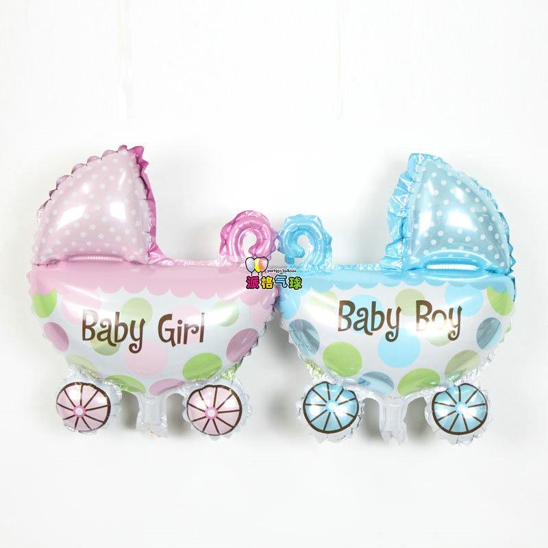 50pcs/lot 28*36cm baby shower balloon birthday party supplies baby car Birthday balloon Helium foil balloons