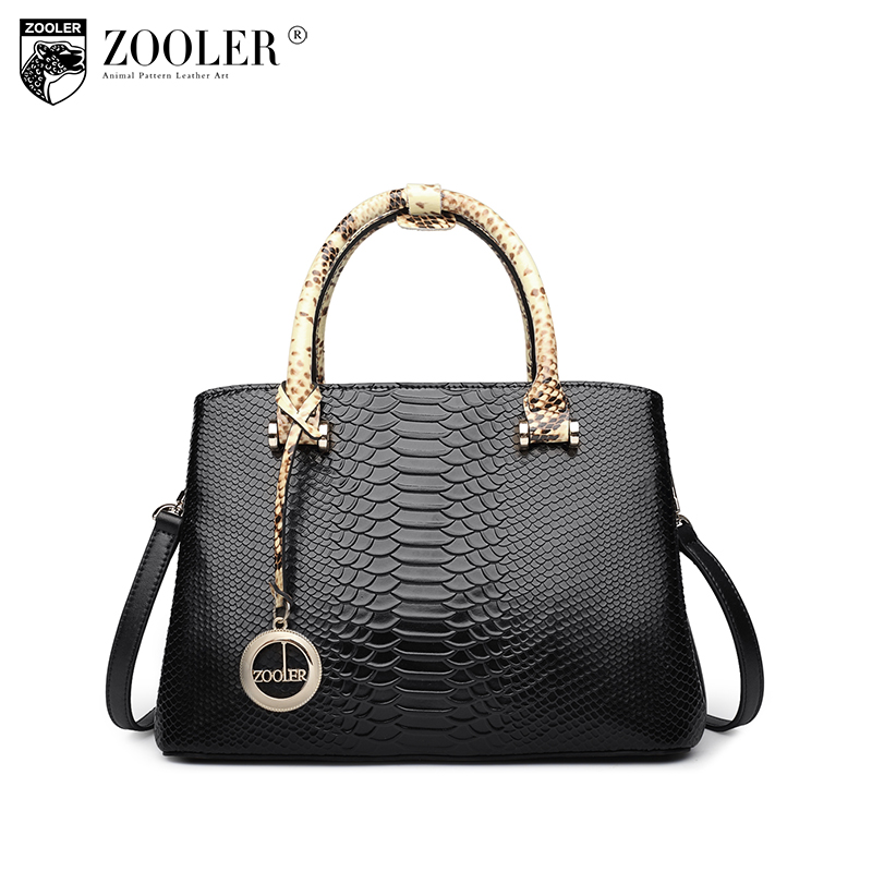 new product sales Zooler Brand elegant cowhide bags pattern handbag top handle genuine leather bag women bag bolsas tote #F102 sales zooler brand genuine leather bag shoulder bags handbag luxury top women bag trapeze 2018 new bolsa feminina b115