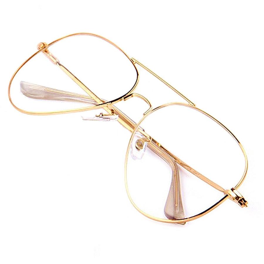 Gold Clear Glasses Myopia Clear Frame Glasses Women Eyewear Men ...