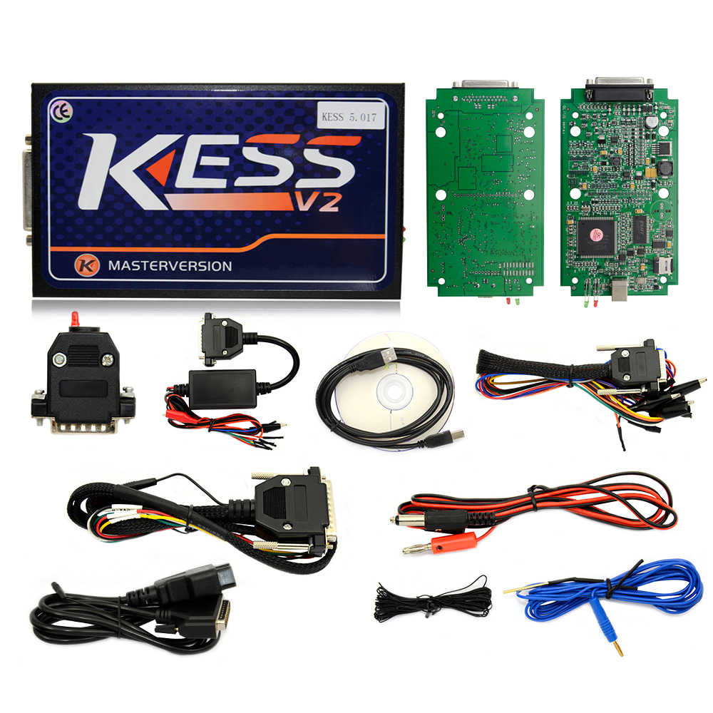 100% Kess V5 017 V2 47 Online Version KESS 5 017 No Token Limit V2 23 Kess  V2 OBD2 Manager Tuning Kit Car Truck ECU Programmer